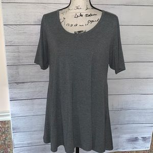 LULAROE gray tunic shirt sleeve L